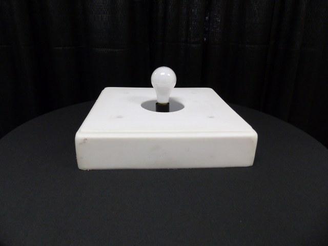 White Resin LED Light Base