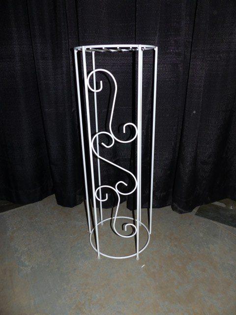 White Scroll Pillar
