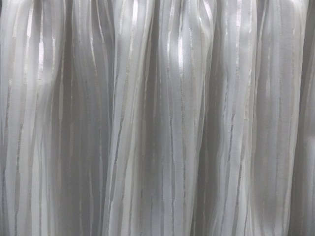 White Stripped Organza Table Skirt 2