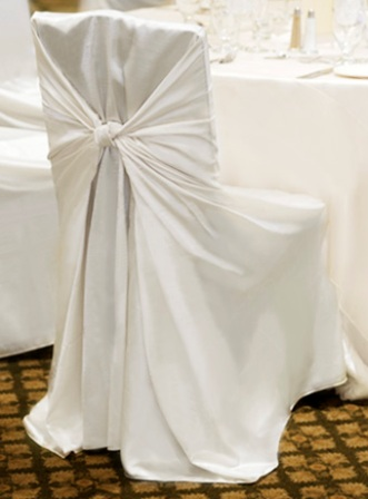White Polyester Universal Chair Cover