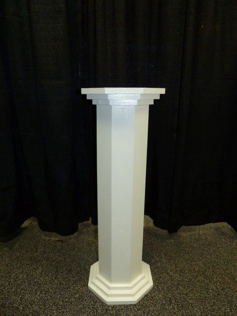 White Wood Pillar