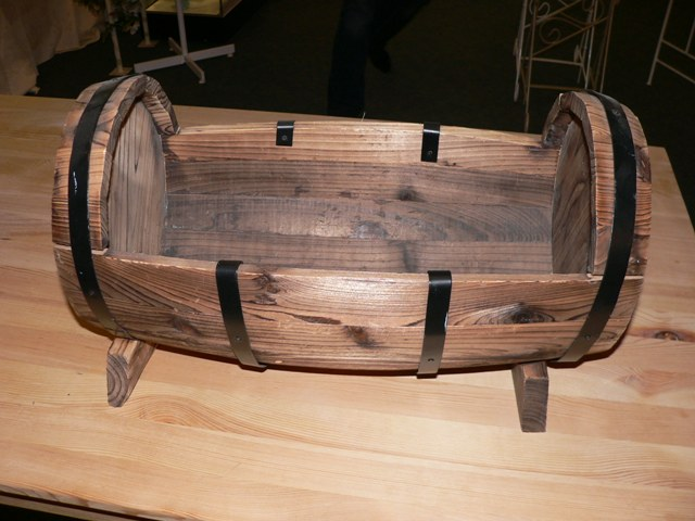 Wood Half Barrel