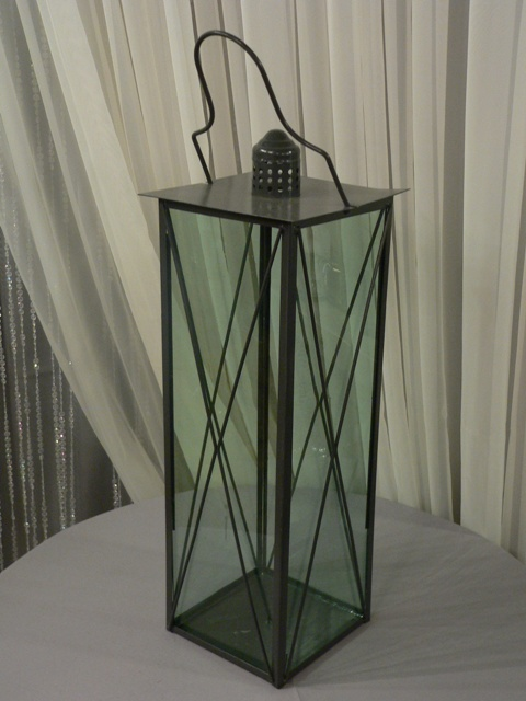 XL Black Metal Lantern