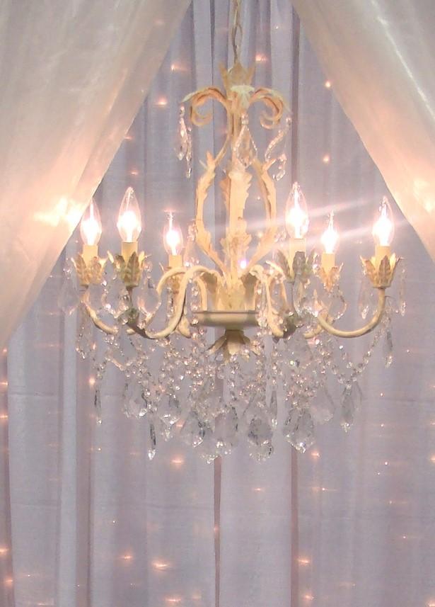 cream iron chandelier