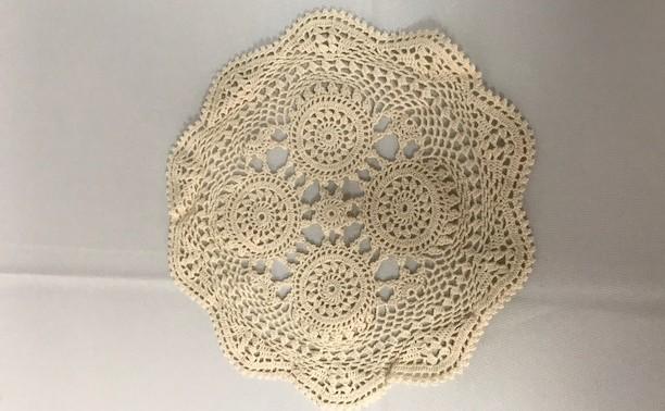 10 inch Round Ecru Crochet Doilie