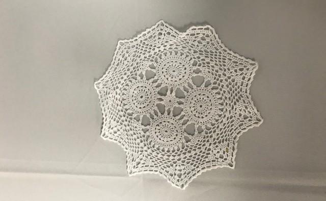 10 inch Round White Crochet Doilie