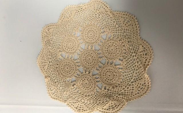 14inch Round Ecru Crochet Doilie