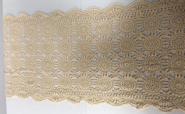 16inch x 72inch Oval Ecru Crochet Runner