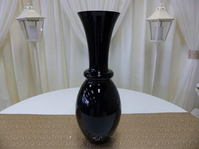 27.5inch Trumpet Neck Black Vase