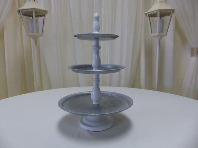 3 Teir Galvanized Cupcake Stand