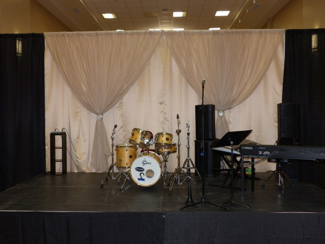 Champagne Voile Backdrop