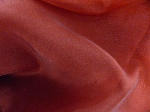 Claret Red Draping Organza