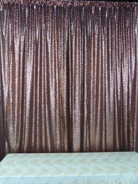 Copper Glitz Sequin Backdrop