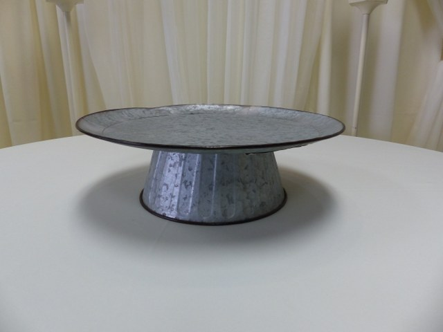 Galvanized Cake-Dessert Stand