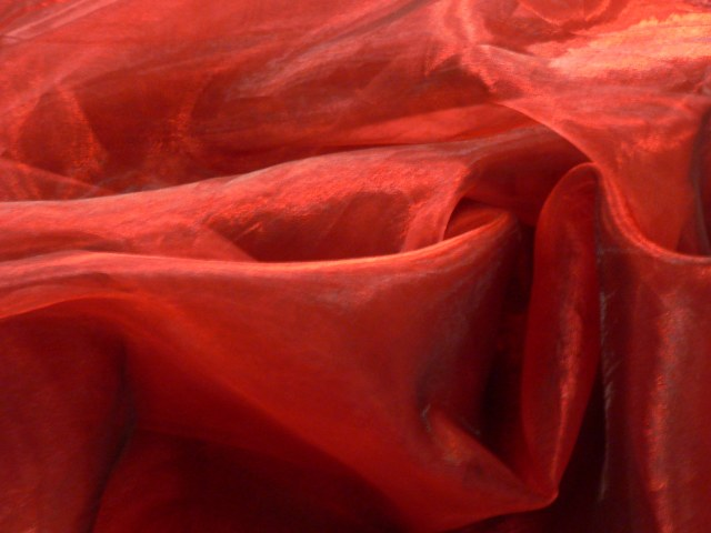 Garnet Red Organza Draping Organza