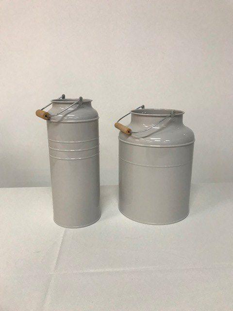Grey Enamel Milk Jugs
