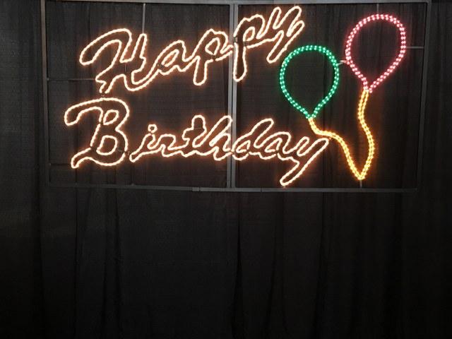 Happy Birthday Neon Sign 3