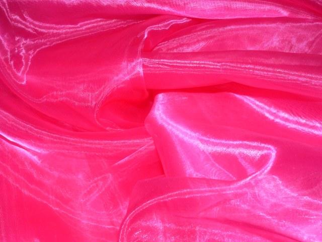 Hot Pink Draping Organza