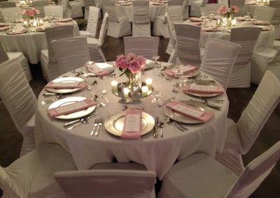 Pink Peony Reception Table