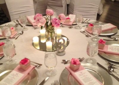 Pink Peony Wedding Reception Table