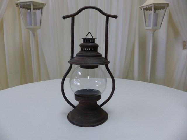 Rustic Metal Lantern 22inch x 10inch