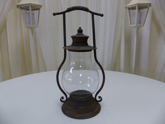 Rustic Metal Lantern 22inch x 12inch