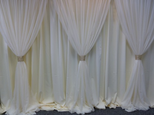 Single Layer Ivory Voile-Ivory Polyester