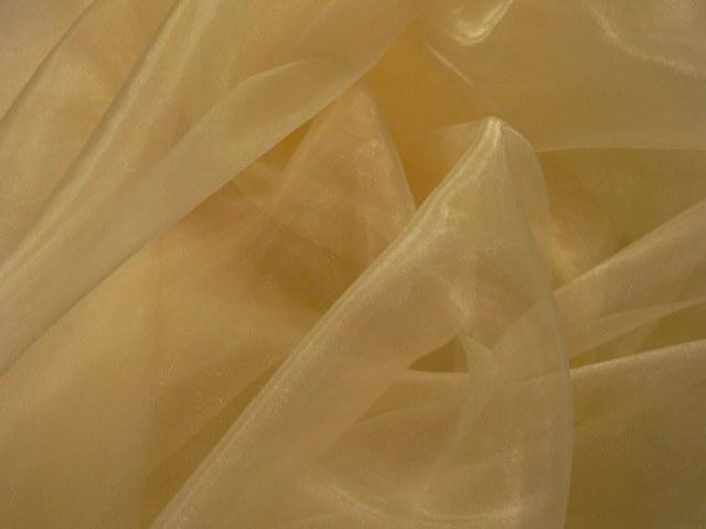 Soft Yellow Draping Organza