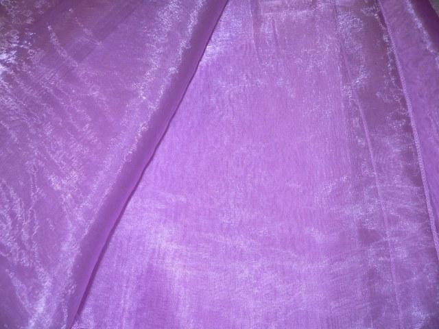 Violet Draping Organza