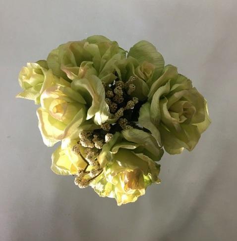 Rose Bouquet – Light Green – Artificial_640x480