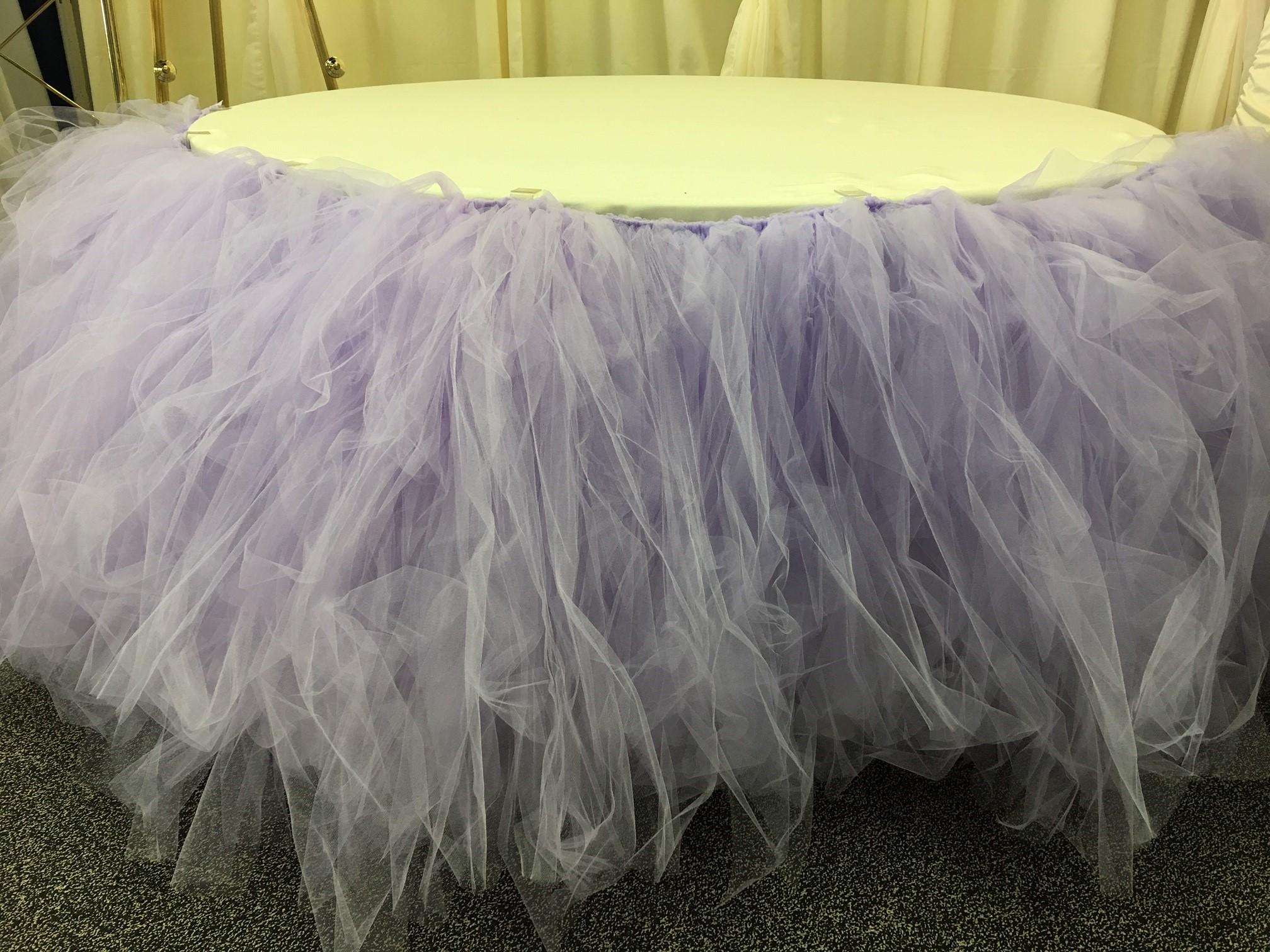 Lilac Tutu Table Skirt
