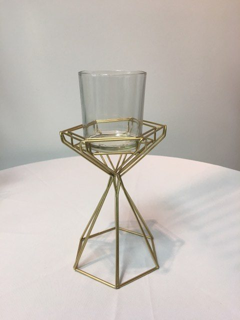 Gold Geo Candle Holder, 6 three quarter inch_640x480