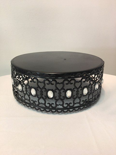 10.5D x 4.25H Black Jewelled Cake Stand_640x480