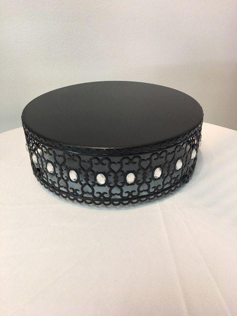 12D x 4.25H Black Jewelled Cake Stand_640x480