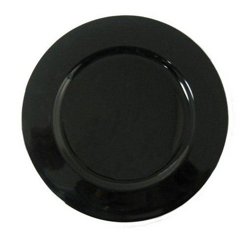 Black Plain Charger Plate_512x480