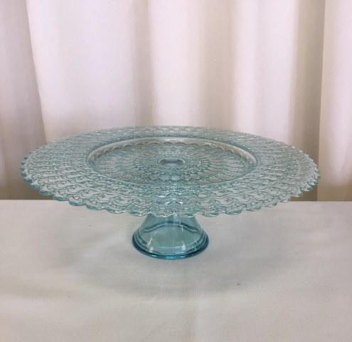 13 inch Aqua Blue Alabaster Glass Pedestal Cake Stand_495x480