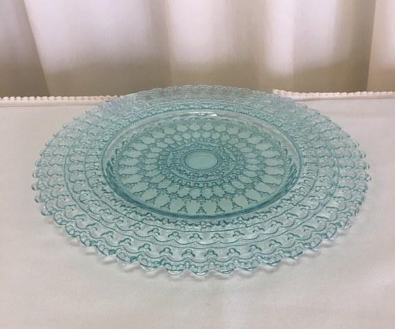 13 inch Aqua Blue Alabaster Glass Plate_576x480
