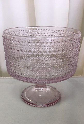 7inch D Blush Pink Glass Pedestal Bowl_326x480