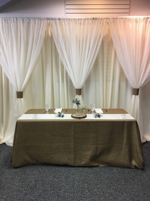 Ivory Voile Backdrop with Burlap Ties_640x480