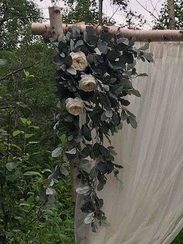 Artificial Eucalyptus Corner Floral Spray_360x480