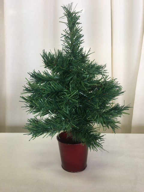 Artificial Mini Christmas Tree in Red Pot_640x480
