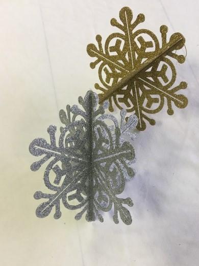 3D Acrylic Glittered Snowflakes_640x480