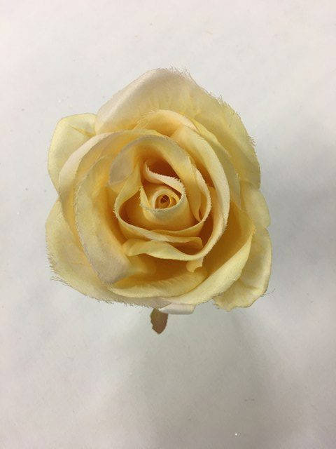 Rose Stem, Large, Artificial, Soft Yellow_640x480