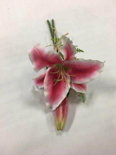 Stargazer Lily Pew Bow, Artificial, Pink_640x480