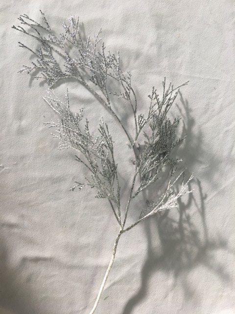 Artificial Cedar Branch, Silver_640x480