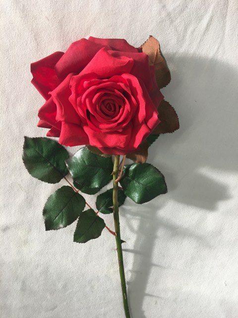 Artificial Dutchess Rose Stem, Long Stem, Red_640x480