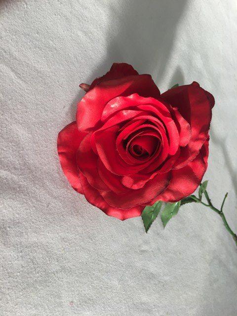 Artificial Whirling Brenda Rose Stem, Long Stem, Red_640x480