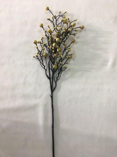 Glittered Ball Branch, Gold_640x480