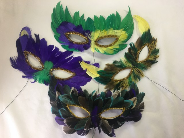 11in Multi-Coloured Feather Masks_640x480