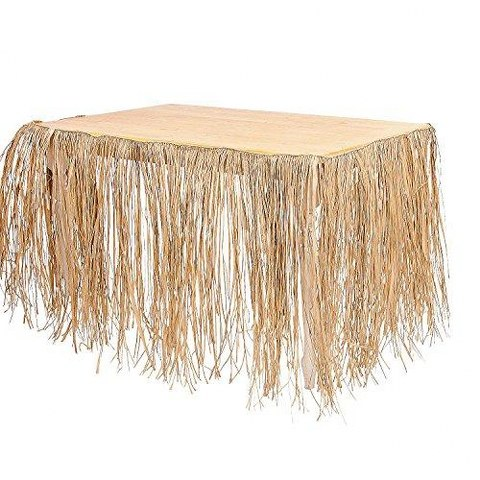 34in Ivory Hula Grass Table Skirt_480x480